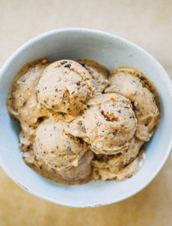 Mocha Chip Banana Ice Cream | Well and Full | #vegan #recipe