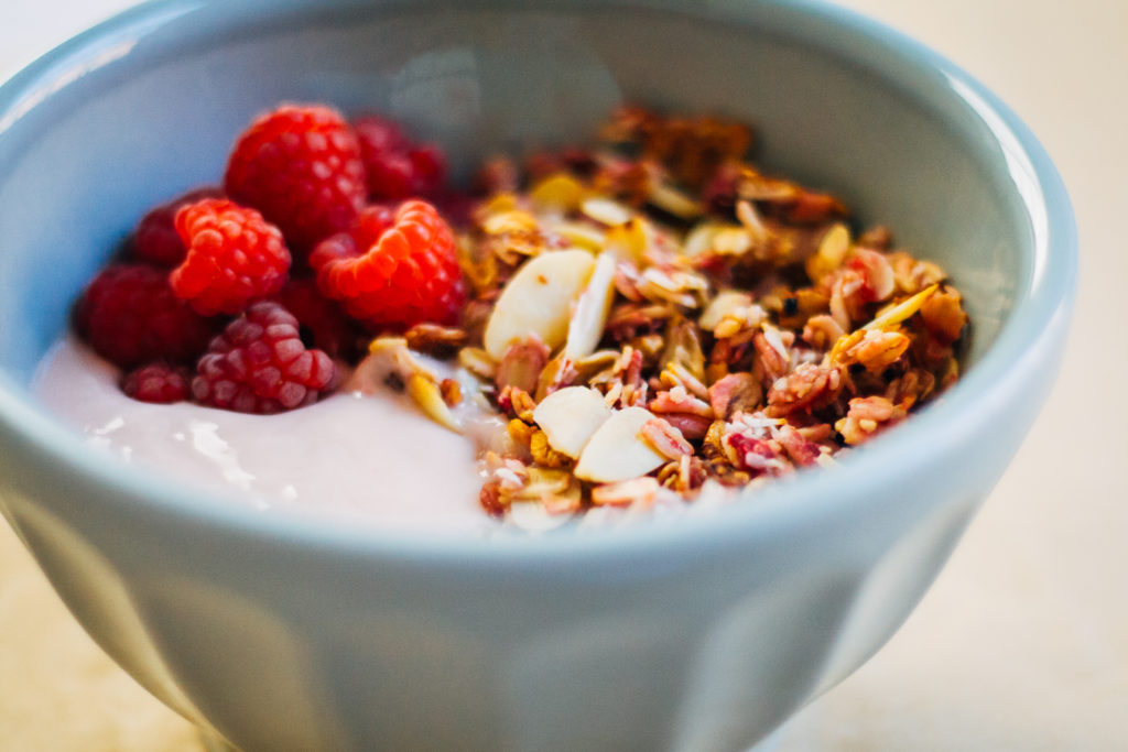 Summer Raspberry Granola | Well and Full | #vegan #recipe