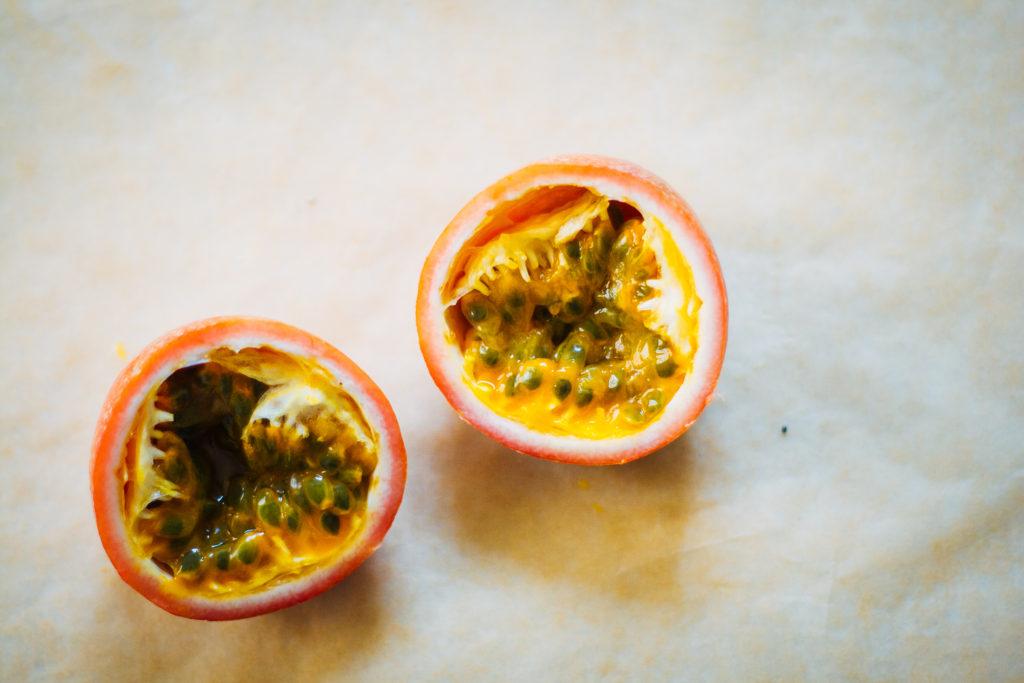 Vanilla Coconut Chia Pudding w/ Passionfruit | Well and Full | #vegan #recipe