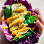 Purple Cabbage Tacos w/ Spicy Chipotle Aioli   Well and Full   #vegan #plantbased #recipe
