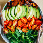 Vegan Cobb Salad w/ Coconut Bacon | Well and Full | #vegan #plantbased #recipe