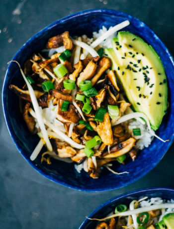 Shiitake Donburi   Well and Full   #vegan #plantbased #recipe