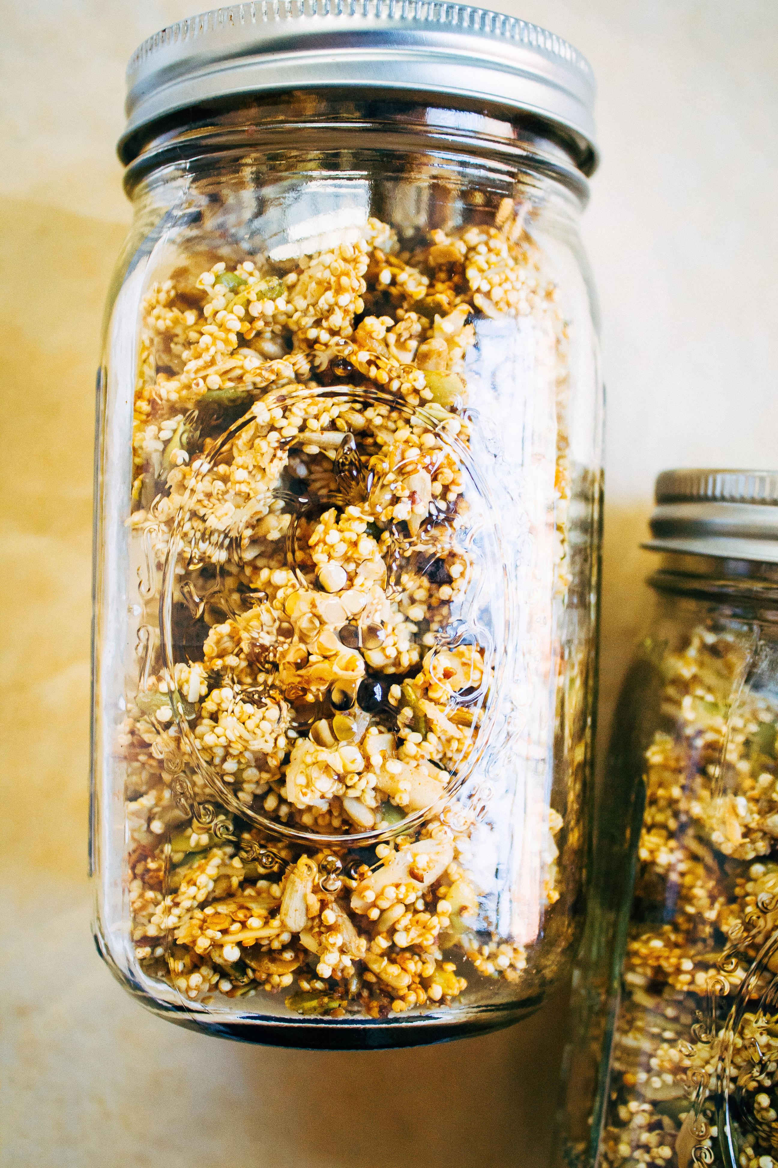 Perfectly Clumpy Vegan Granola w/ Sprouted Quinoa (Grain-Free) | Well and Full | #vegan #plantbased #recipe