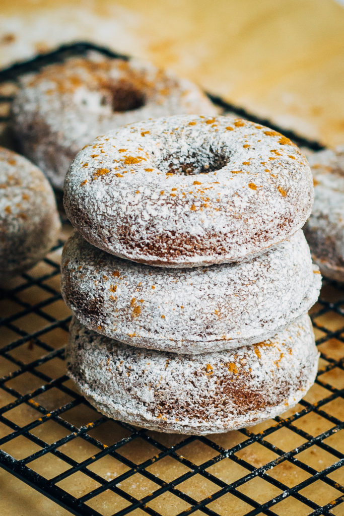 Fluffy Vegan Apple Cider Donuts w/ Powdered Cinnamon Sugar | Well and ...