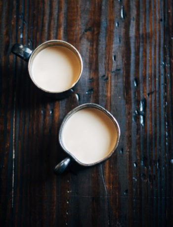 Homemade Pecan + Walnut Milk | Well and Full | #recipe
