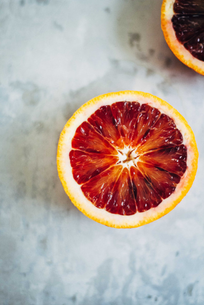 Jeweled Kamut w/ Blood Orange + Toasted Almonds | Well and Full | #recipe