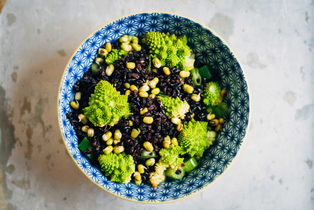 Black Rice + Romanesco Bowl | Well and Full