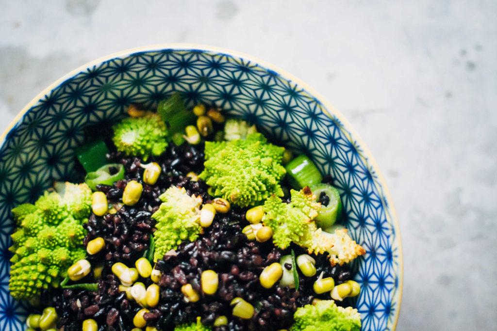Black Rice + Romanesco Bowl   Well and Full