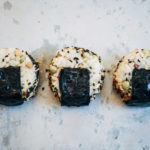 Onigiri w/ Ponzu-Marinated Avocado + Shichimi Togarashi   Well and Full   #plantbased #recipe