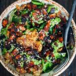 Green Pesto Breakfast Bowl | Well and Full | #vegan #recipe