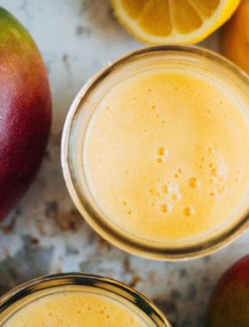 Mango Melon Lassi | Well and Full | #vegan #recipe