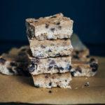 Raw Cookie Dough Slice | Well and Full | #raw #vegan #recipe