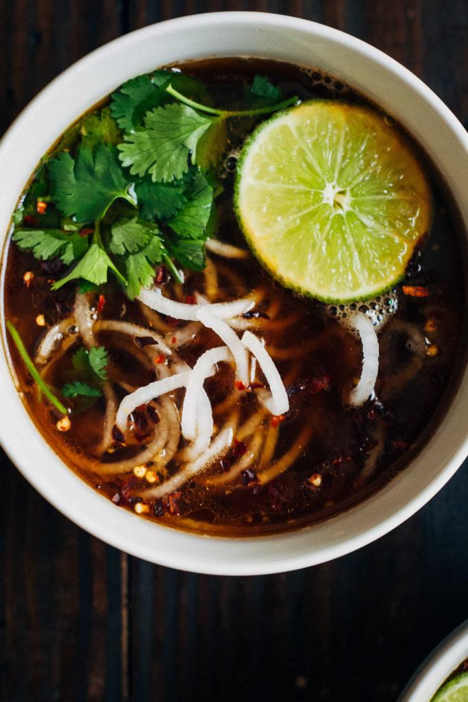Vegan Pho w/ Daikon Noodles | Well and Full | #vegan #recipe