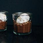Raw Chocolate Pudding w/ Coconut Cream | Well and Full | #vegan #recipe