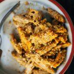 Cozy Sweet Potato Macaroni Bake | Well and Full | #vegan #recipe