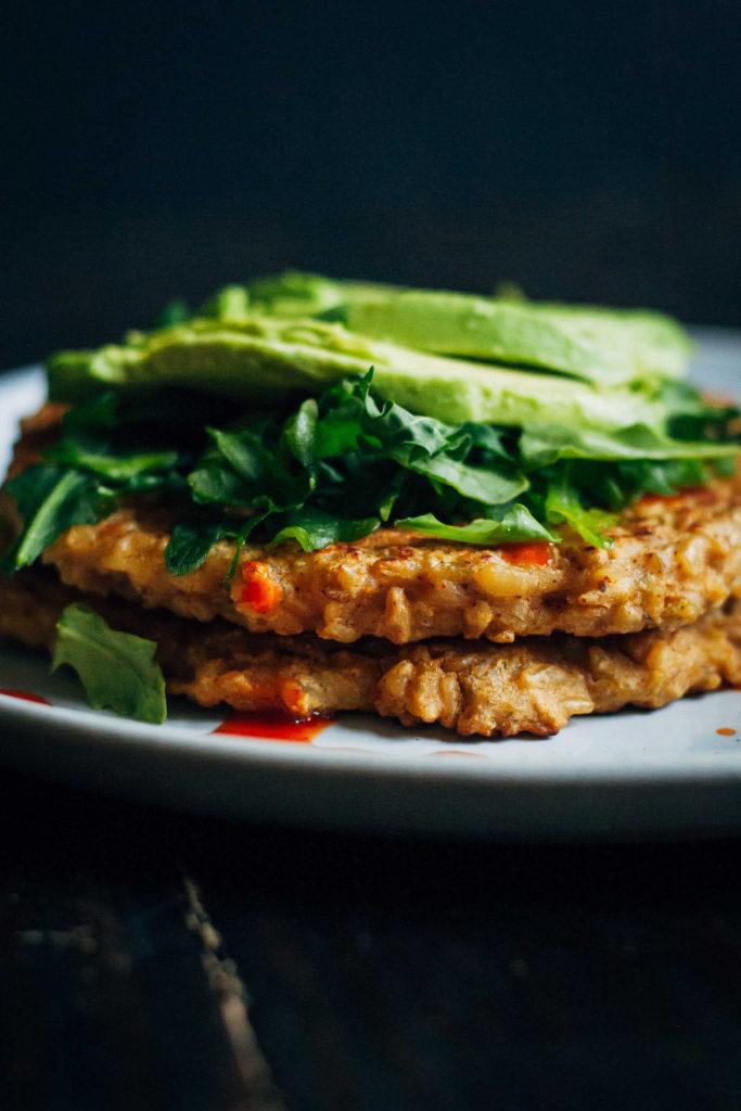 Savory Freekeh Pancakes | Well and Full | #vegan #freekeh #pancakes #glutenfree