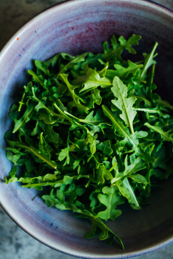 Spring Gnocchi w/ Mustardy Arugula Pesto | Well and Full | #vegan #gnocchi #recipe