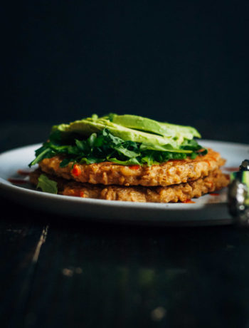 Savory Freekeh Pancakes | Well and Full | #vegan #freekeh #pancakes #glutenfree