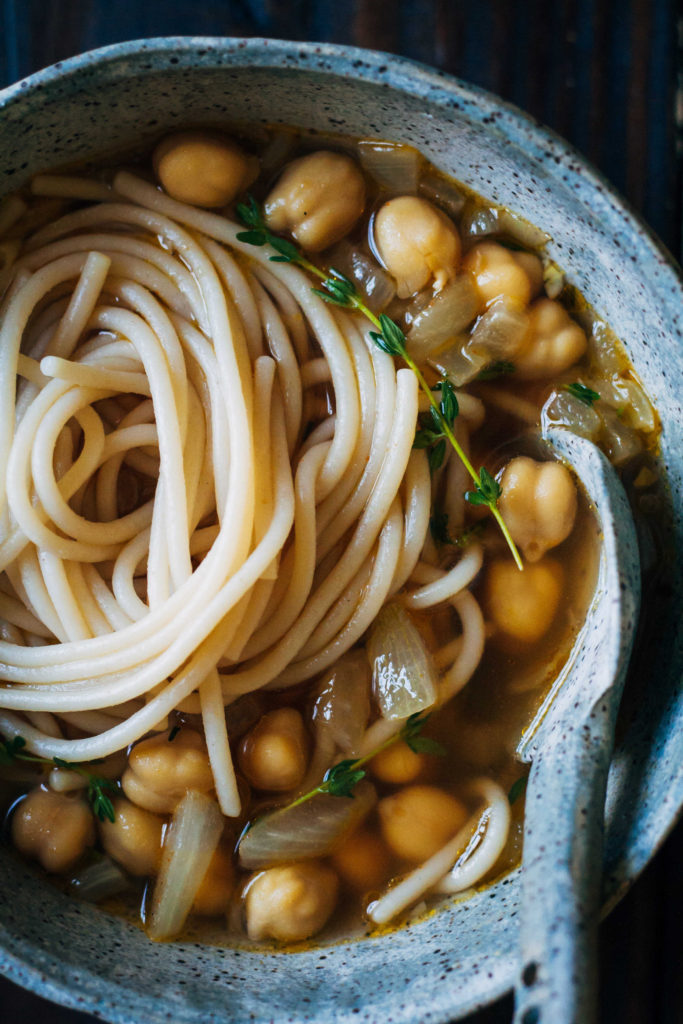 Chickpea Noodle Soup w/ Fresh Thyme | Well and Full | #vegan #soup #recipeChickpea Noodle Soup w/ Fresh Thyme | Well and Full | #vegan #soup #recipe