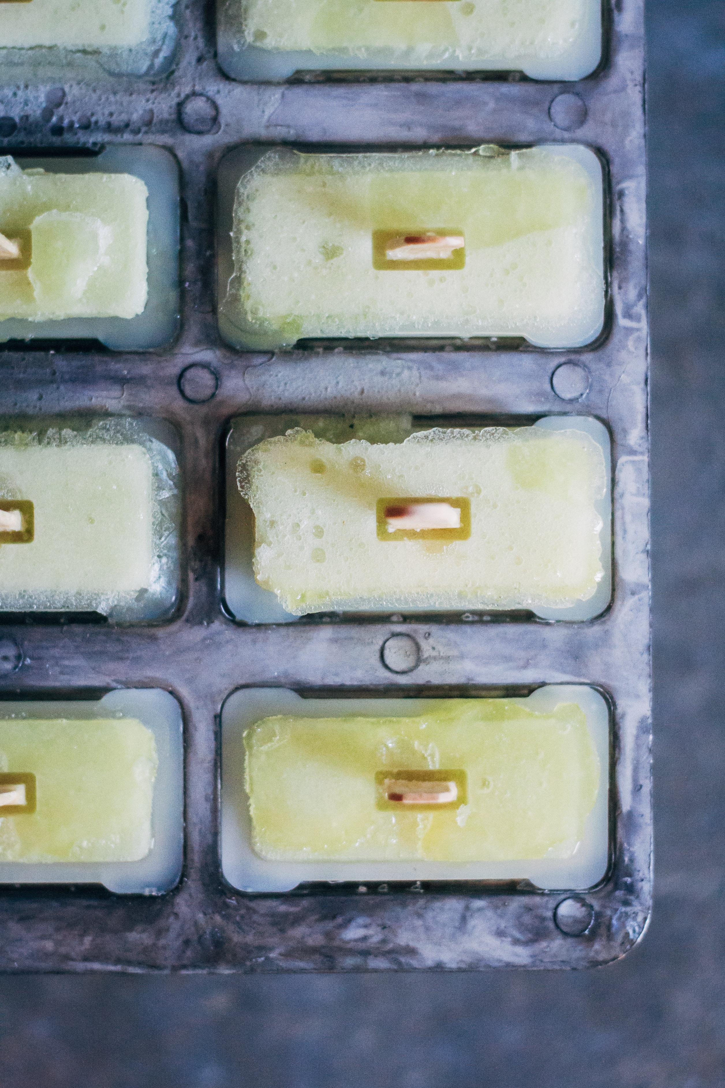 Honeydew Green Tea Popsicles | Well and Full | #vegan #popsicle #recipe