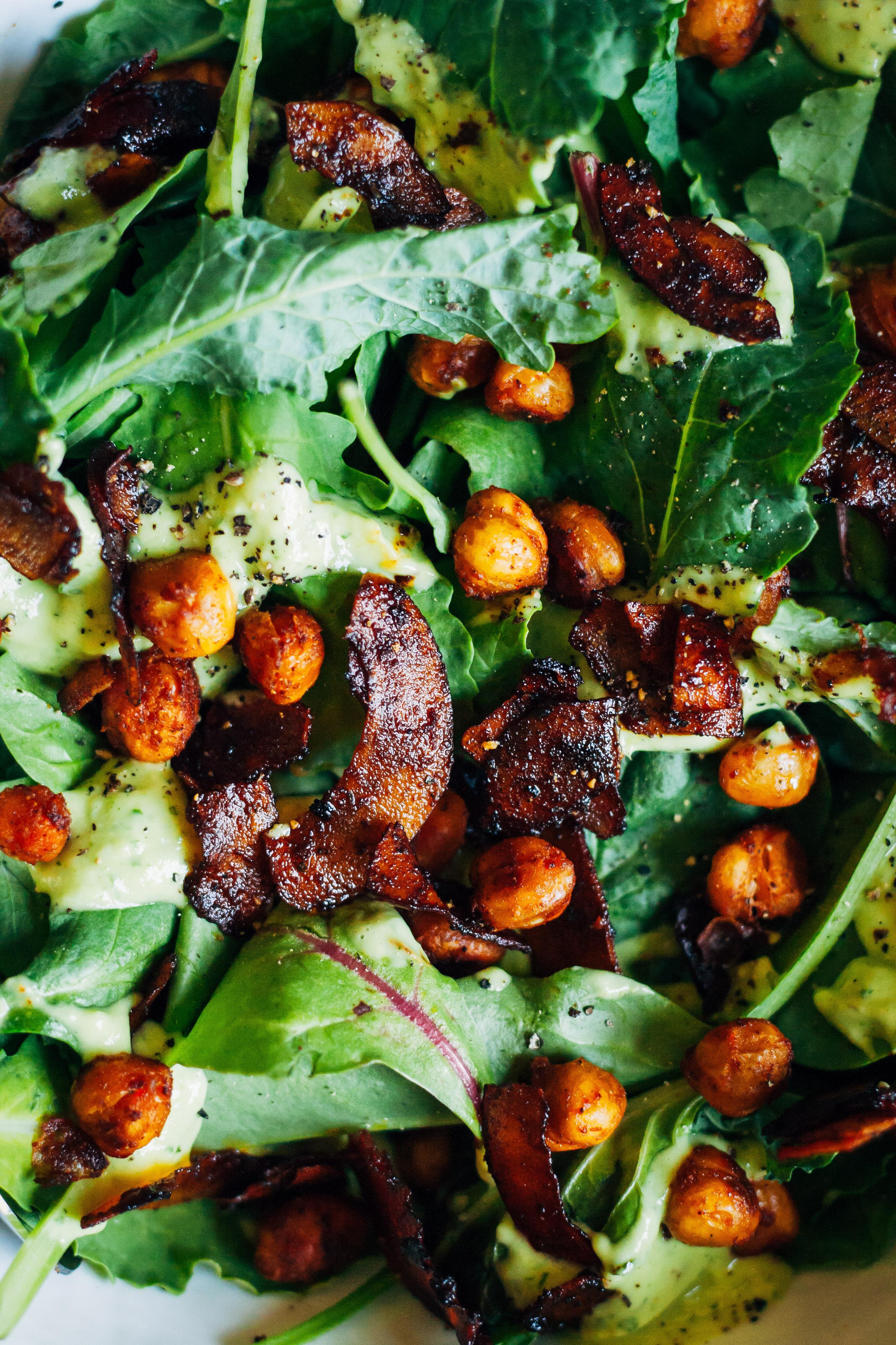 My Favorite Vegan Salad | Well and Full | #vegan #salad #recipe