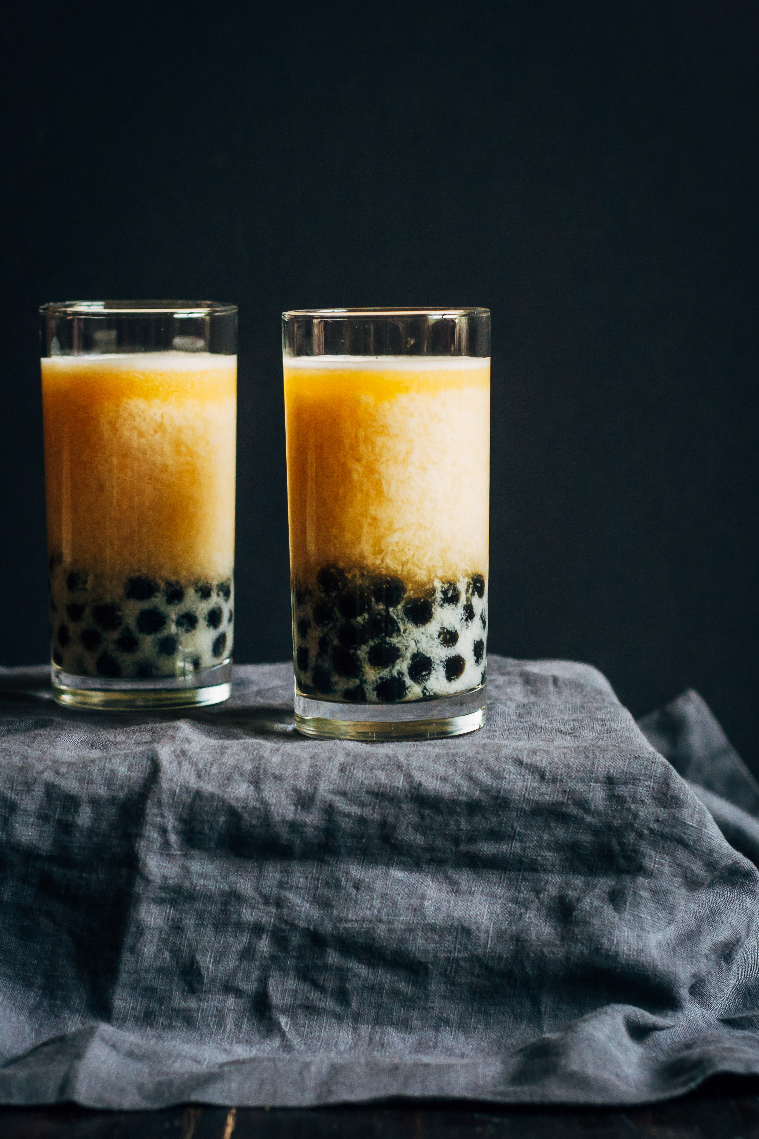 Peach Bubble Tea   Well and Full   #vegan #bubble #tea #recipe