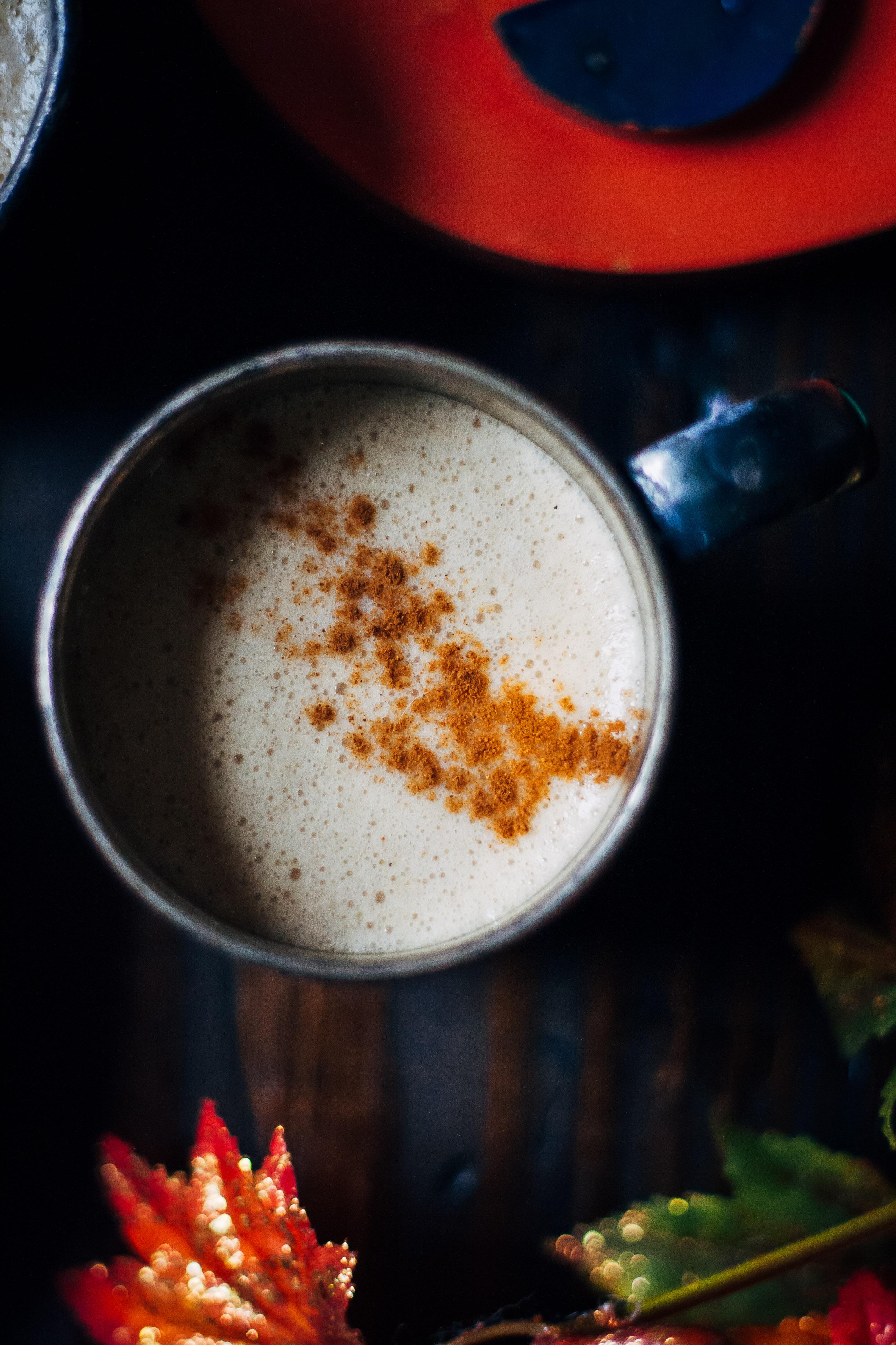 Vegan Pumpkin Spice Latte | Well and Full | #vegan #recipe #PSL