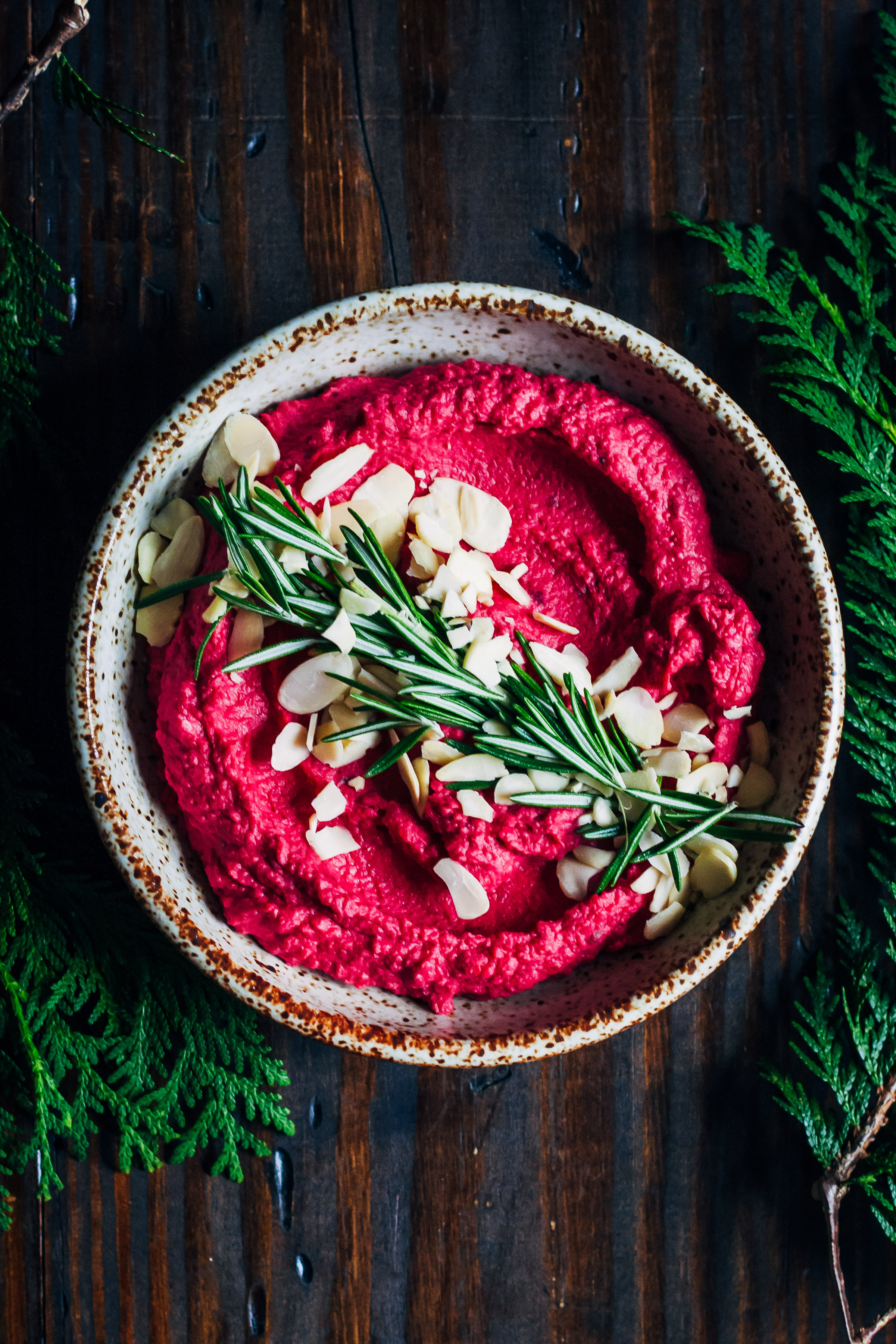 Winter Beet Hummus | Well and Full | #beet #hummus #vegan