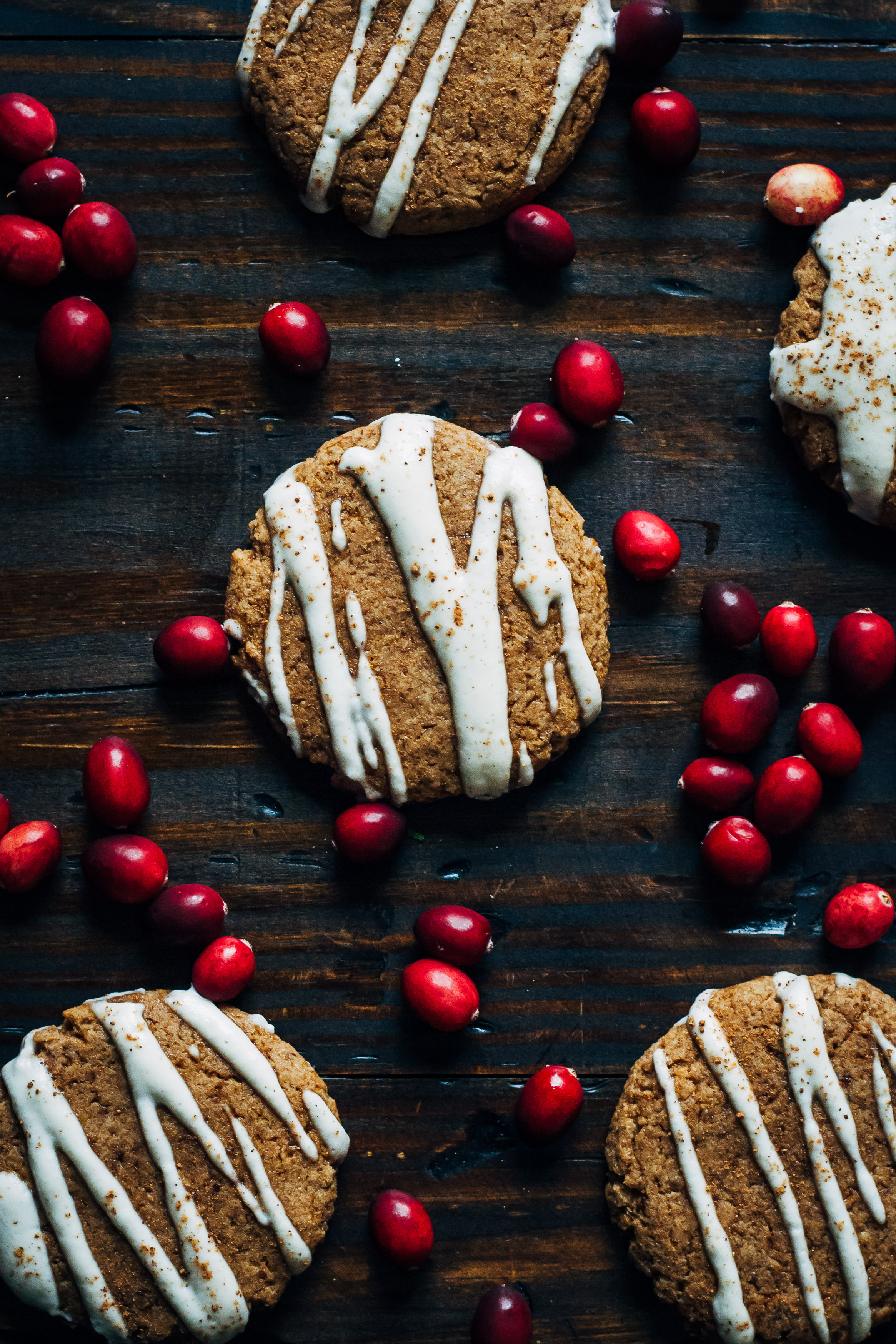 Spiced Vegan Christmas Cookies w/ Vanilla Almond Cream | Well and Full