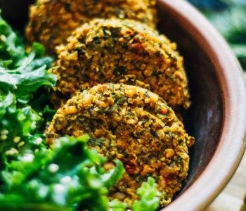 Winter Kale Falafel | Well and Full | #vegan #falafel #recipe