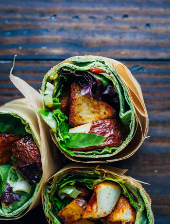 My Favorite Vegan Wrap | Well and Full | #vegan #wrap