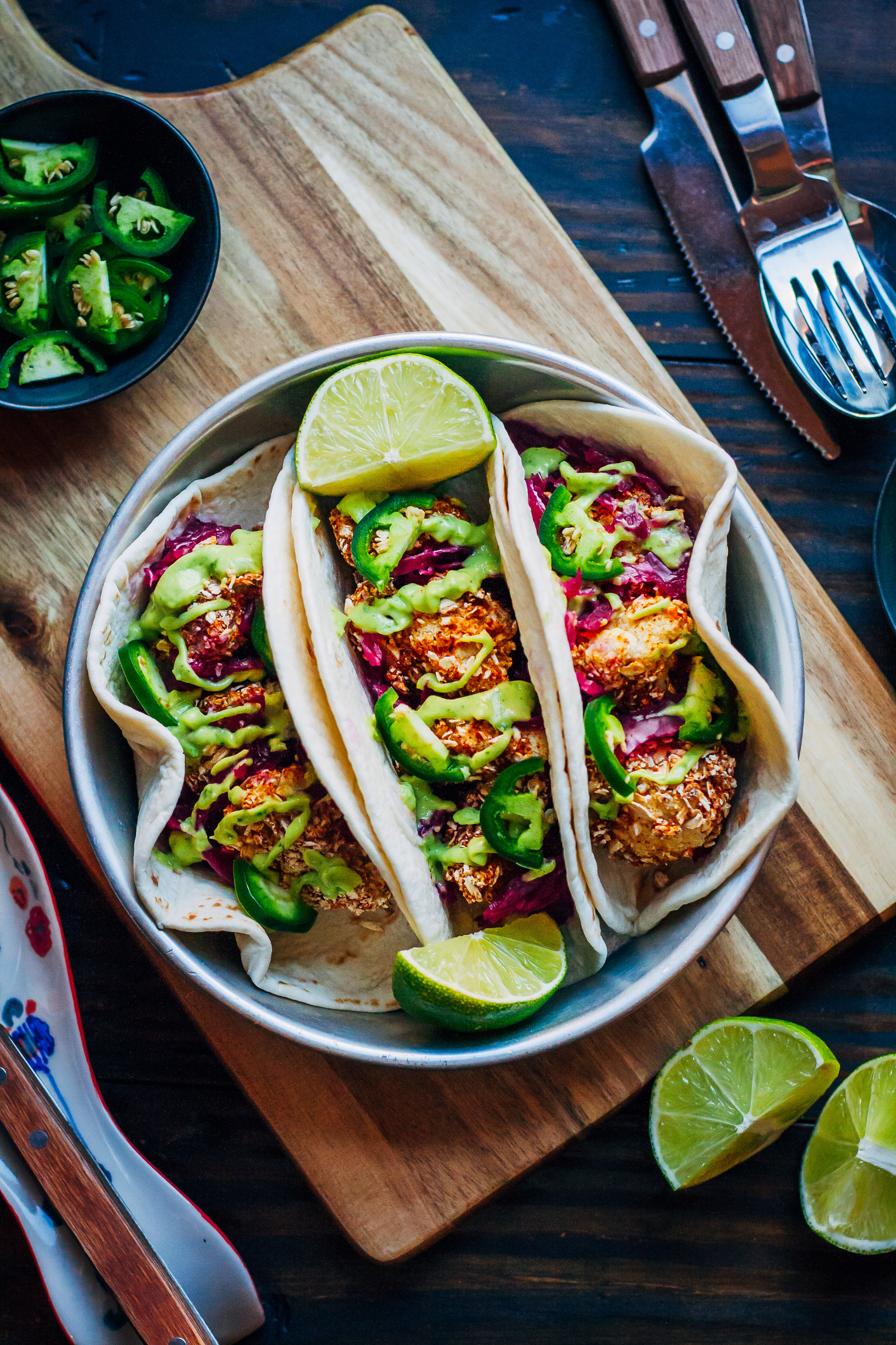 Cauliflower Tacos from The Blissful Basil Cookbook + GIVEAWAY | Well and Full