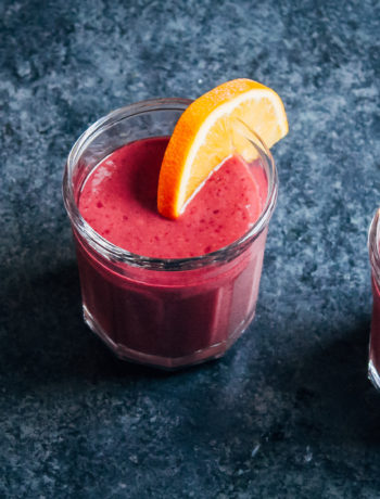 Morning Energy Smoothie | Well and Full | #vegan #smoothie #recipe