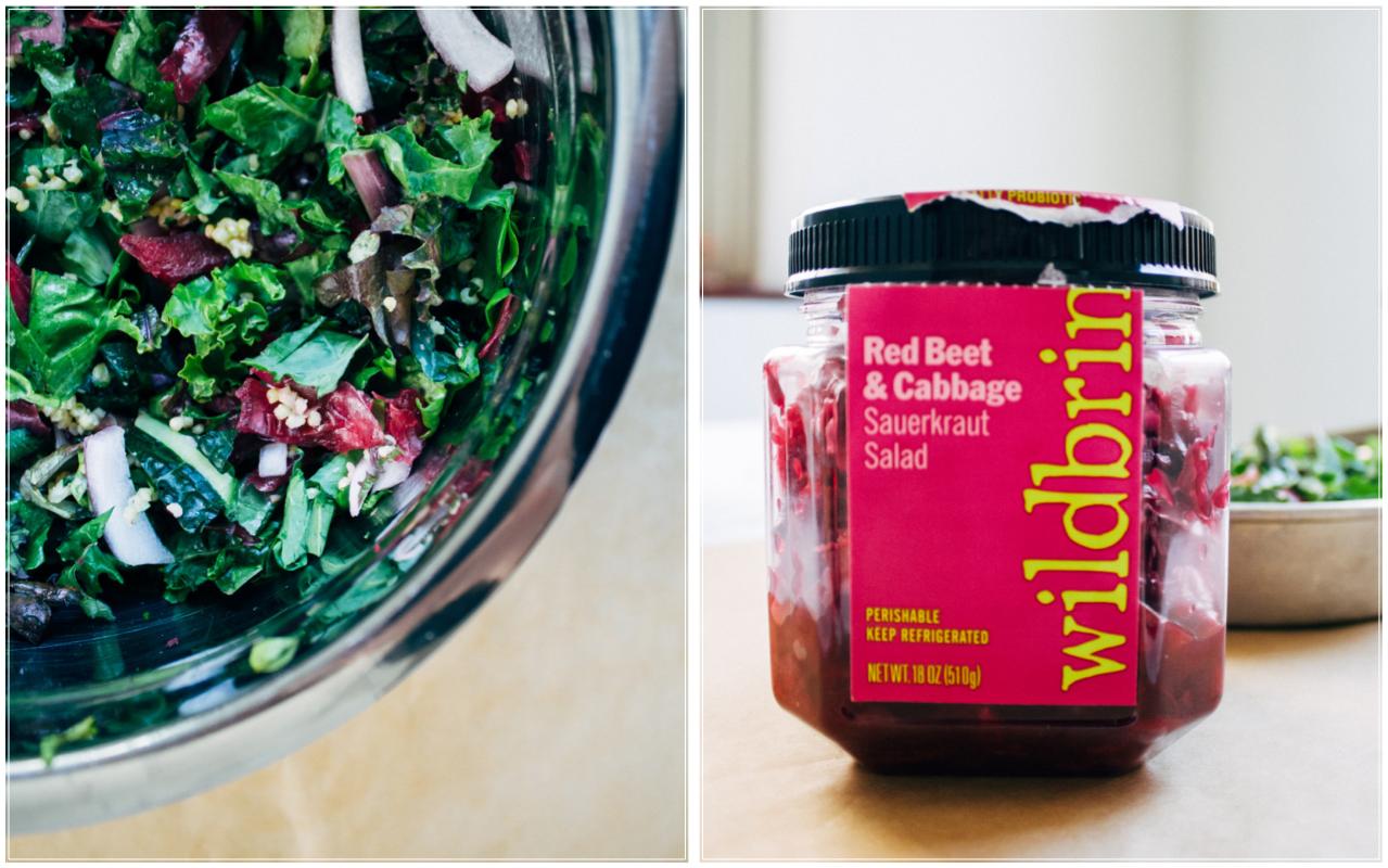 Kale + Kraut Salad   Well and Full   #vegan #recipe