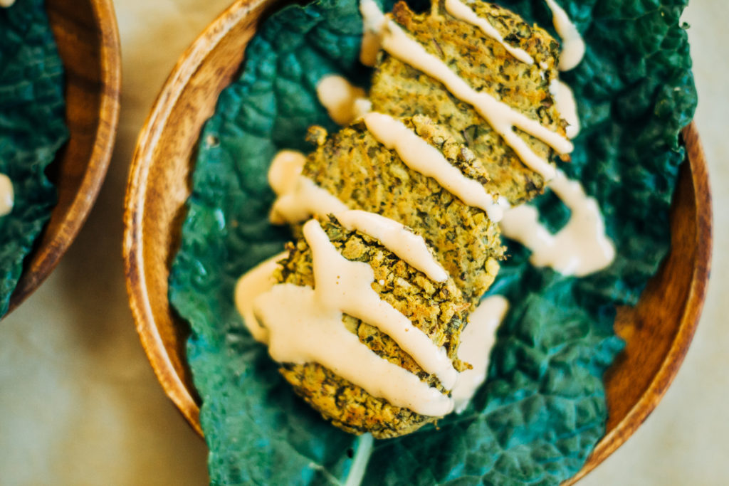 Lemony Summer Harvest Falafel w/ Smoky Sriracha Tahini | Well and Full | #vegan #plantbased #recipe