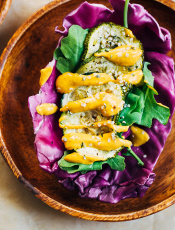Purple Cabbage Tacos w/ Spicy Chipotle Aioli | Well and Full | #vegan #plantbased #recipe