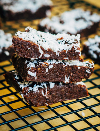 Raw Chocolate + Walnut Fudge   Well and Full   #vegan #plantbased #recipe