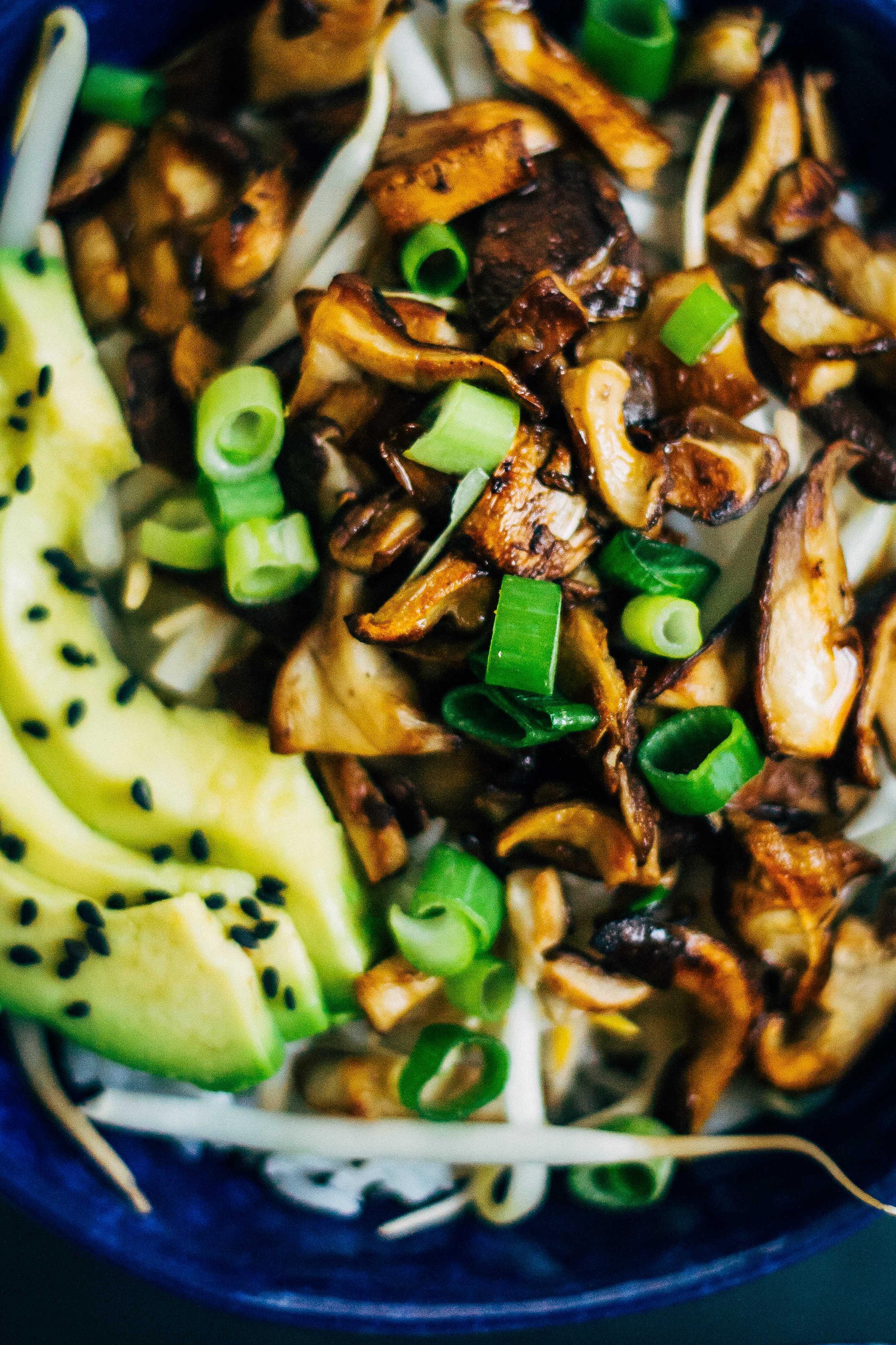 Shiitake donburi well and full shiitake donburi well and full vegan plantbased recipe forumfinder Choice Image