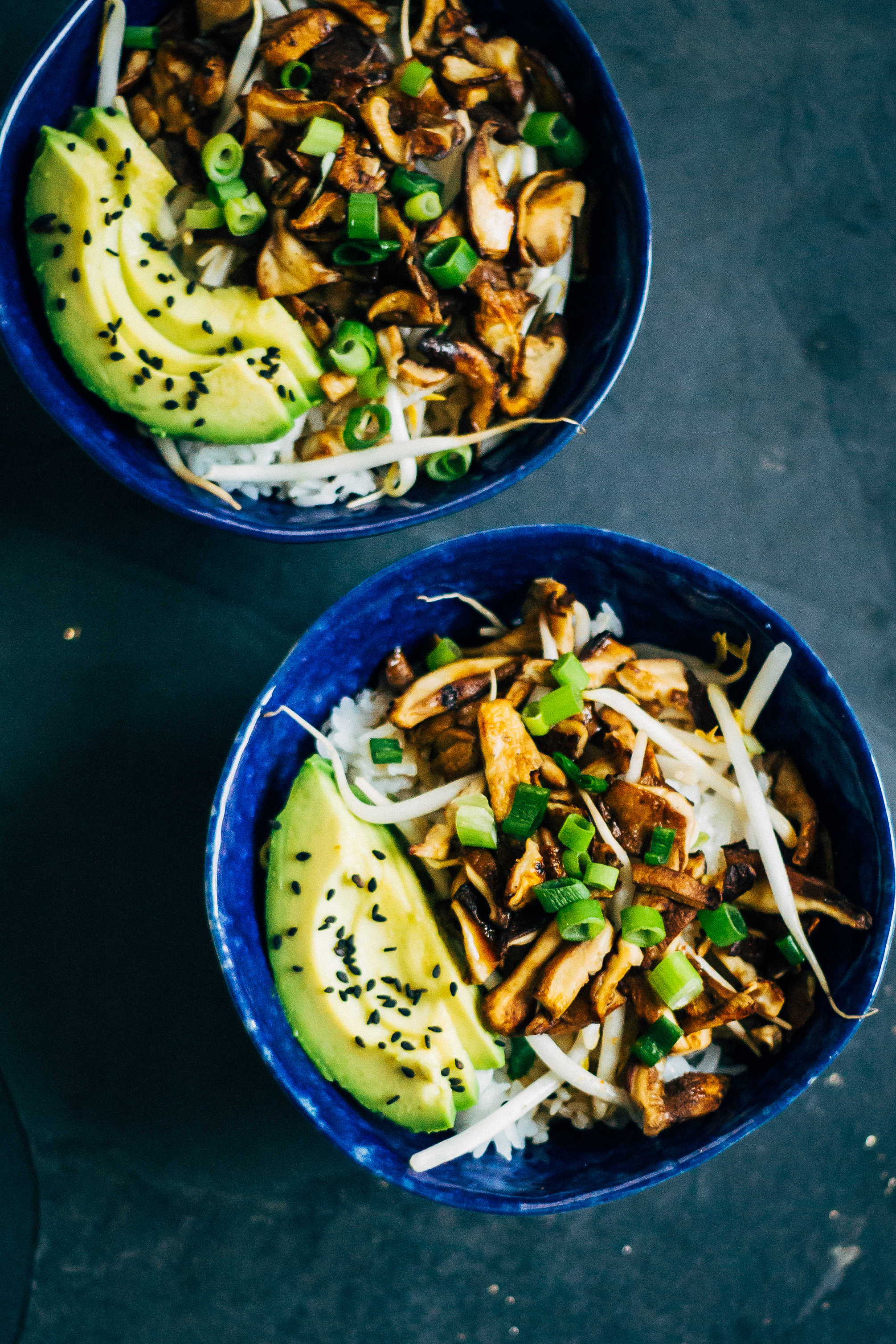 Shiitake Donburi | Well and Full | #vegan #plantbased #recipe