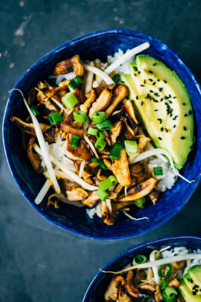 Shiitake Donburi | Well and Full | #vegan #plantbased #recipe
