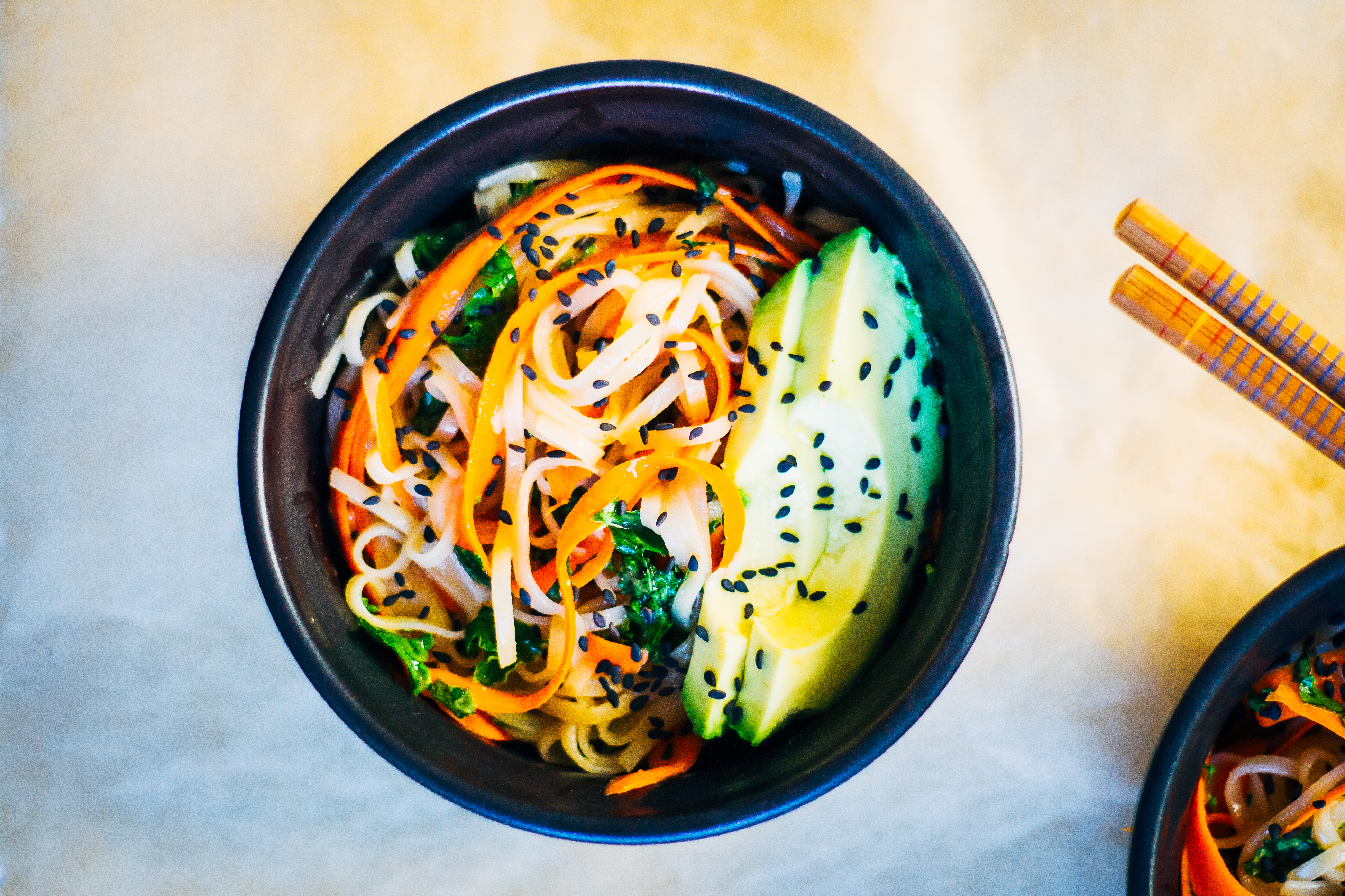 Brown Rice + Carrot Noodles w/ Miso Ginger Glaze | From This Rawsome Vegan Cookbook | Well and Full | #plantbased #vegan #recipe