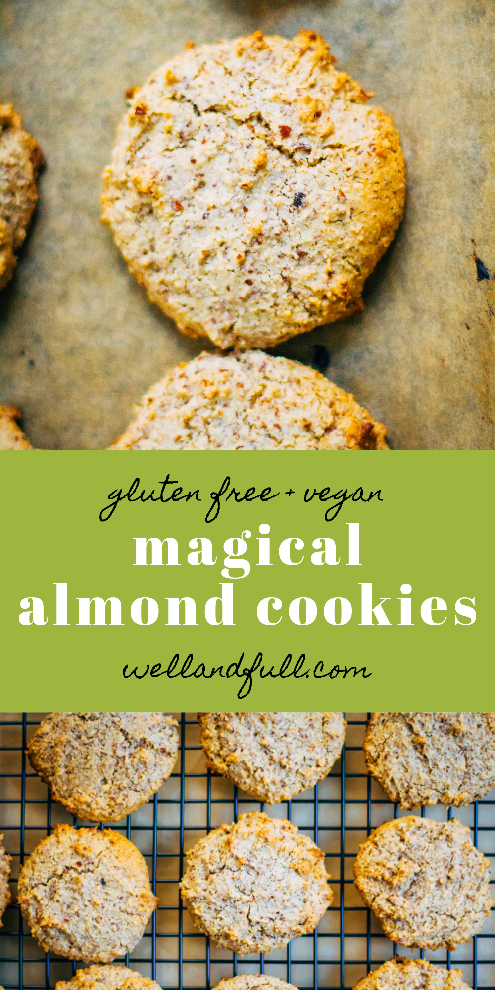 Magical Almond Cookies | Well and Full | #vegan #glutenfree #cookies #recip