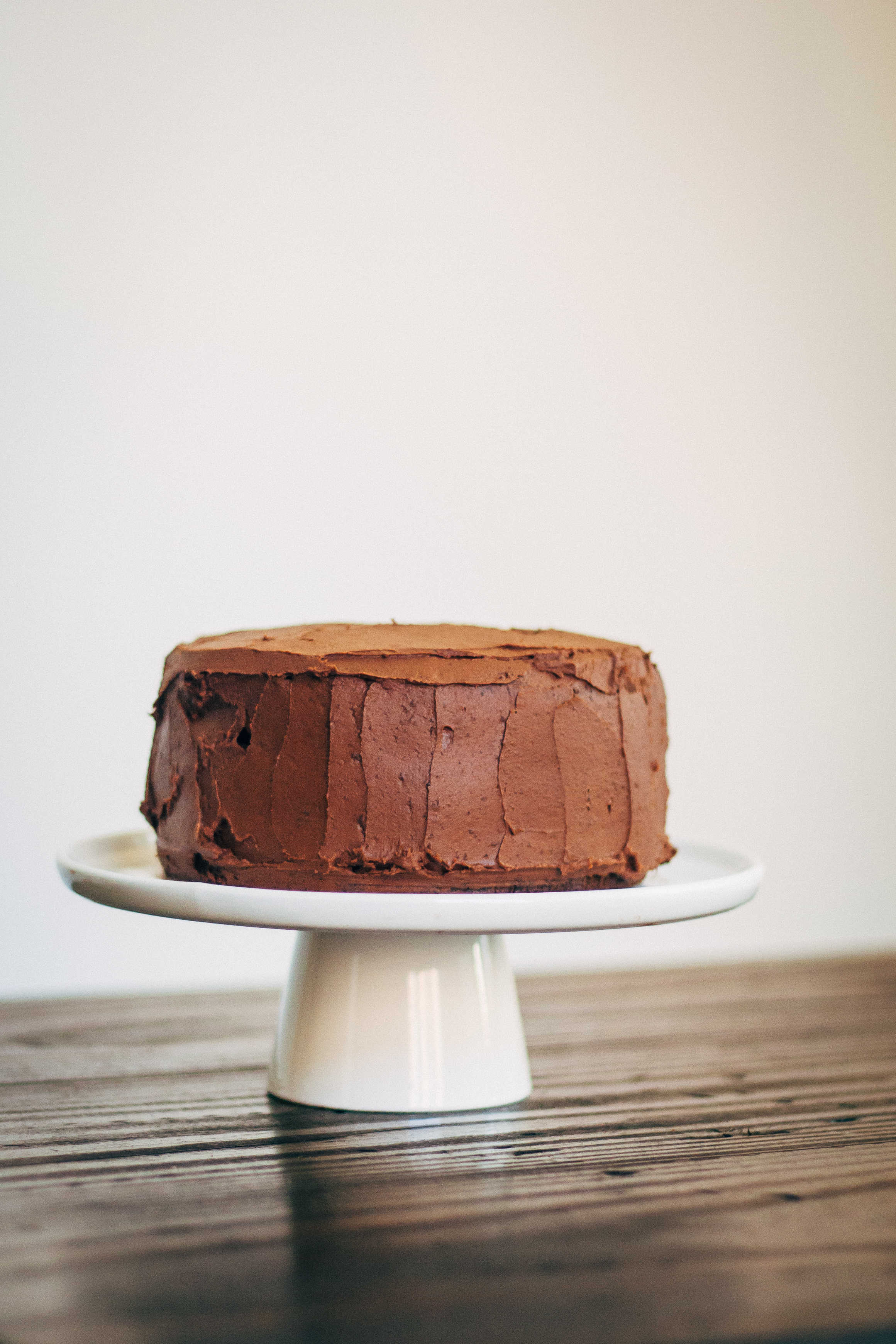 Italian Chocolate Olive Oil Cake w/ Chocolate Hazelnut Buttercream | Well and Full | #vegan #cake #recipe