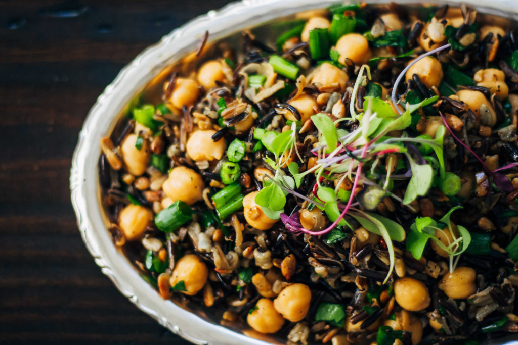 Sprouted Forbidden Rice Salad | Well and Full | #plantbased #recipe