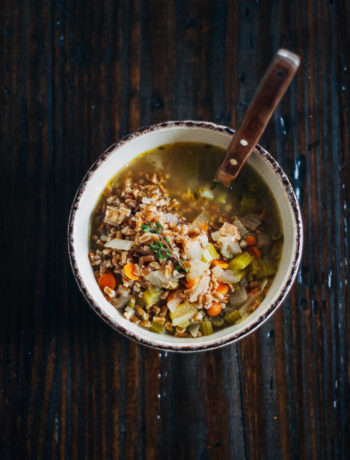 Rustic Vegetable Soup | Well and Full | #plantbased #recipe