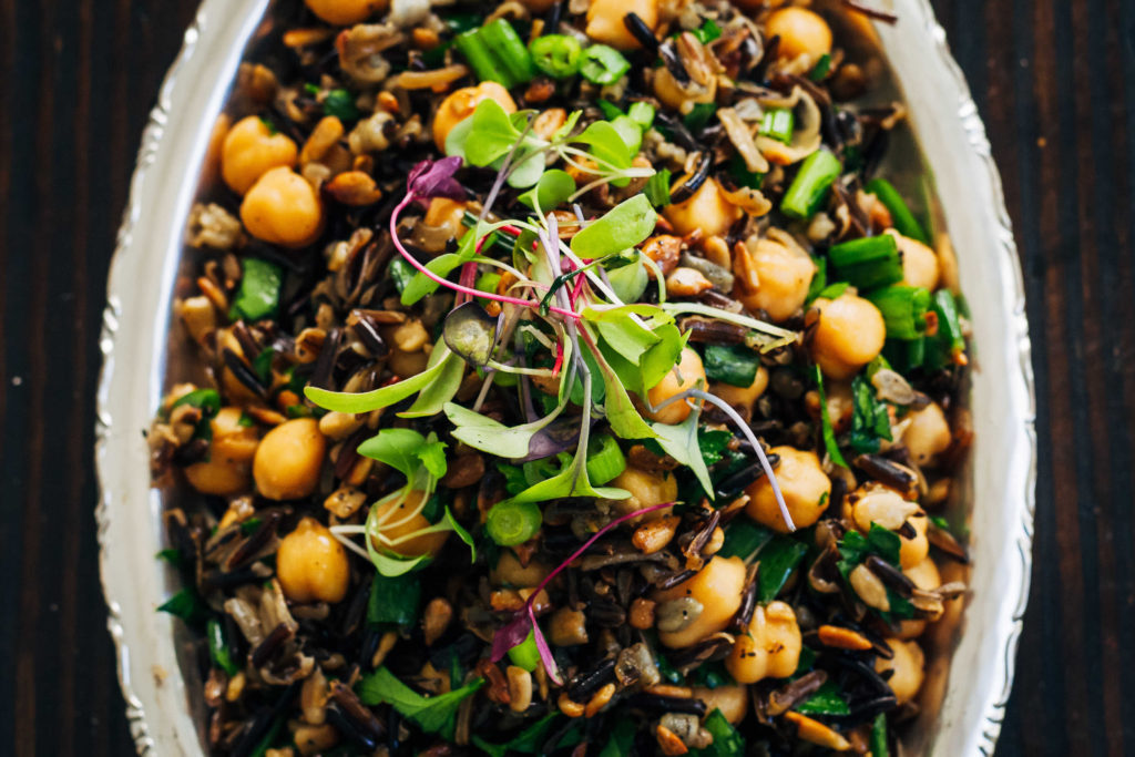 Sprouted Forbidden Rice Salad   Well and Full   #plantbased #recipe