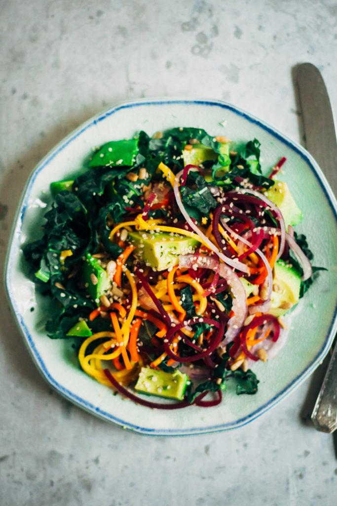 Rainbow Chakra Salad | Well and Full | #plantbased #yoga #recipe