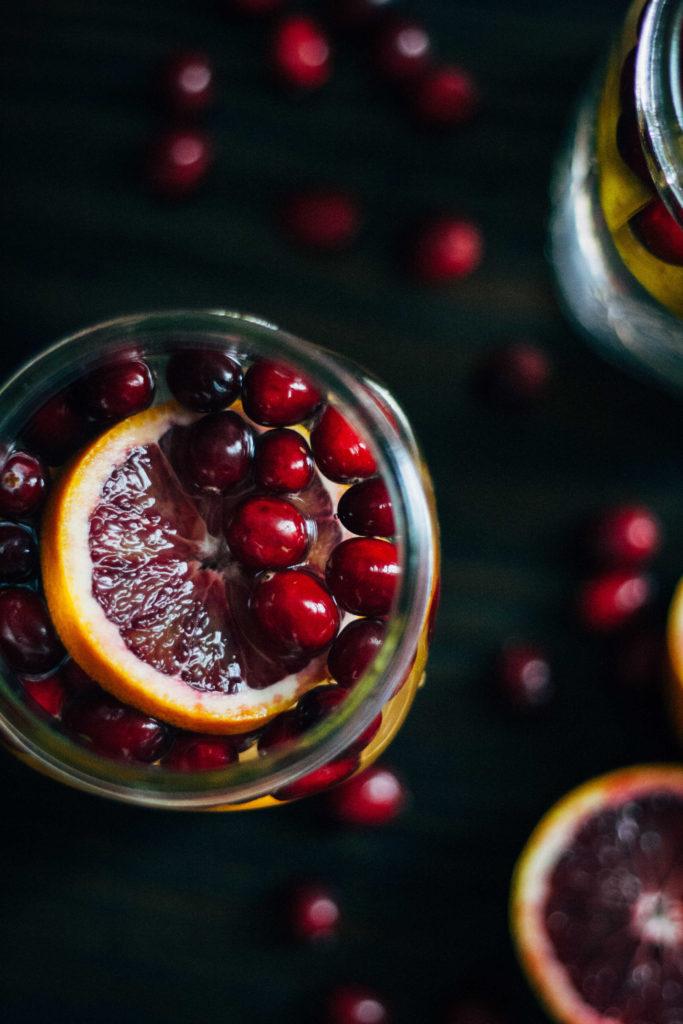 Cranberry Orange Detox Water | Well and Full | #vegan #detox
