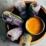 Rainbow Spring Rolls | Well and Full | #vegan #recipe