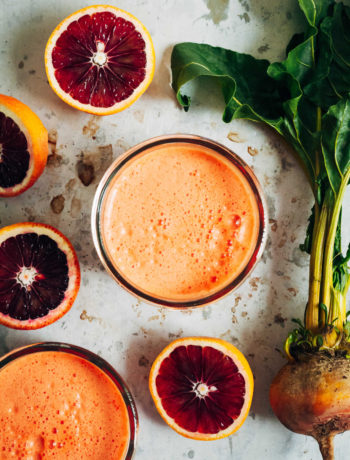 Sunny Citrus Beet Juice | Well and Full | #vegan #recipe